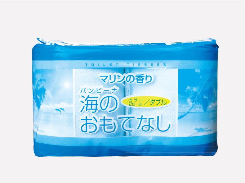 海のおもてなし トイレットペーパー2R :夏の販促品:おもてなしシリーズ
