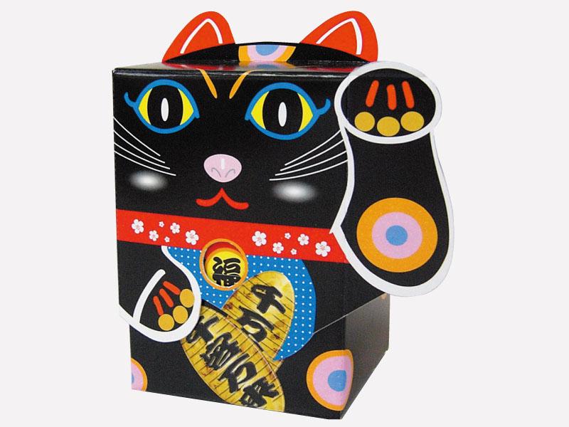 招き猫ティッシュ(黒)